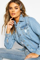 boohoo Laura Oversized Denim Boyfriend Jacket