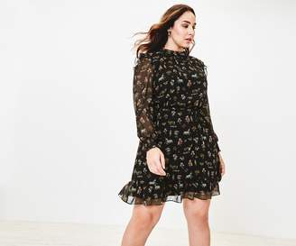 Oasis Curve Reggie Print Dress