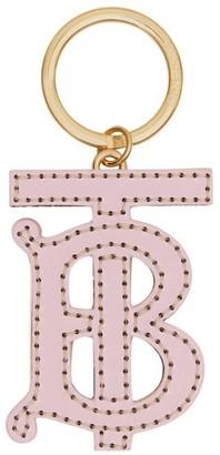 Burberry Monogram Motif Two-tone Leather Key Charm