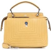 Fendi Dotcom Click Small Suede Shoulder Bag