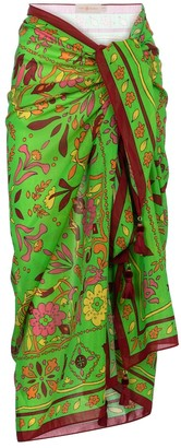 Tory Burch Printed cotton and silk sarong