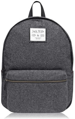 Jack Wills Stanley Herringbone Backpack