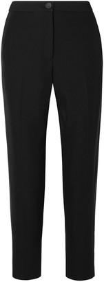 Rag & Bone Meki Grosgrain-trimmed Crepe Slim-leg Pants