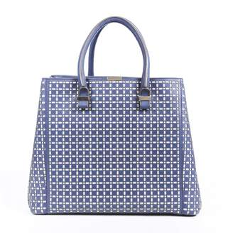 Victoria Beckham Quincy Blue Leather Handbags