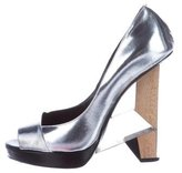 Diego Dolcini Metallic Leather Pumps
