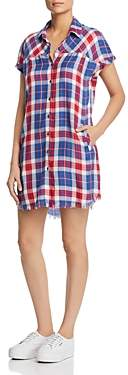 BILLY T Plaid Shirt Dress