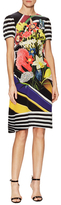 Mary Katrantzou Vitta Silk Floral Print Fit And Flare Dress