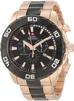 Rosegold Swiss Precimax Men's SP12055 Valor Elite Black Dial with Rose- Stainless-Steel Band Watch
