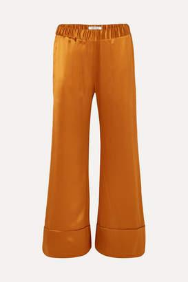 Deitas Paloma Silk-satin Wide-leg Pants - Copper