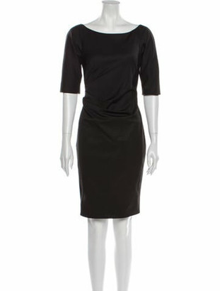 Lela Rose Bateau Neckline Knee-Length Dress Rose