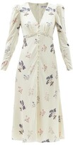 Thumbnail for your product : Self-Portrait Crystal-embellished Floral-print Midi Dress - Ivory Multi