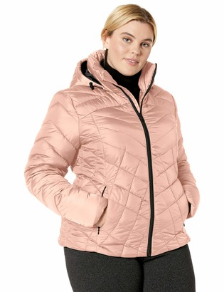 Big Chill Women's Plus Size Down Blend Quilted Puffer Jacket