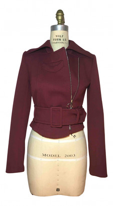 Carven Red Wool Jackets