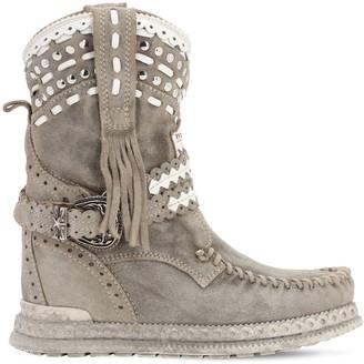 EL VAQUERO 70mm Yara Studded Suede Boots