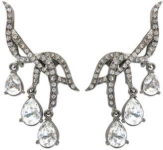 Oscar de la Renta Classic Falling Crystal Earrings