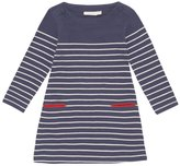 Jo-Jo JoJo Maman Bebe Breton Dress (Toddler/Kid) - Navy/Cream Stripe-3-4 Years