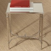 The Well Appointed House BARGAIN BASEMENT ITEM: Global Views Rectangle French Square Leg Table in Nickel with Mirrored Top - 50% OFF Floor Sample!
