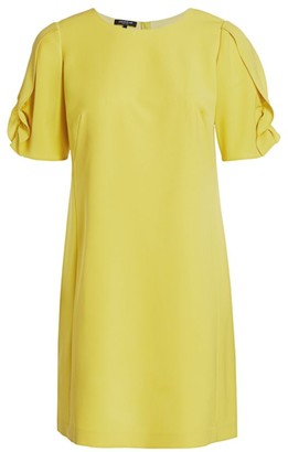 Lafayette 148 New York, Plus Size Winslow Ruffle Puff-Sleeve Shift Dress