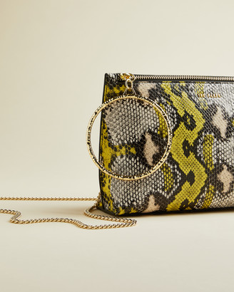 Ted Baker IMANIE Exotic leather bracelet clutch