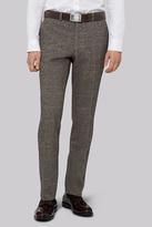 Moss Bros Slim Fit Light Brown Check Pants