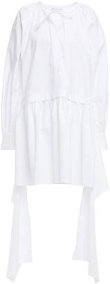 J.W.Anderson Asymmetric Cotton-poplin Mini Dress