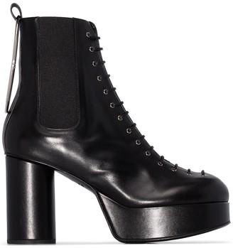 Jil Sander lace-up 95mm platform ankle Boots