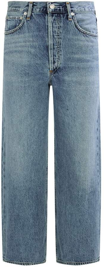 A Gold E Agolde Disclosure Wide Leg Jeans