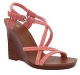 Nina Originals Womens Savina Open Toe Casual Slingback, Flamingo/nylon, Size 7.5.