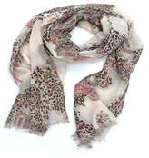 La Fiorentina Women's Scarf With Animal/floral Print.