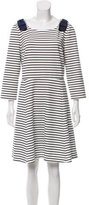 Kate Spade Striped Bow-Accented Dress