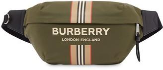 Burberry Sonny logo Icon stripe ECONYL belt bag