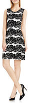 Vince Camuto Lace Jacquard Flare Dress