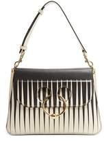 J.W.Anderson Pierce medium striped leather shoulder bag