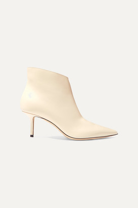 Jimmy Choo Marinda 65 Leather Ankle Boots - Ivory