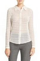 Rebecca Taylor Women's Long Sleeve Mixed Lace Shirt