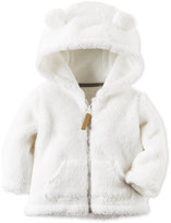 Carter's Baby Boys' or Baby Girls' Hooded Faux-Sherpa Zip-Up Jacket