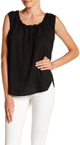 Catherine Malandrino Ruched Neck Blouse