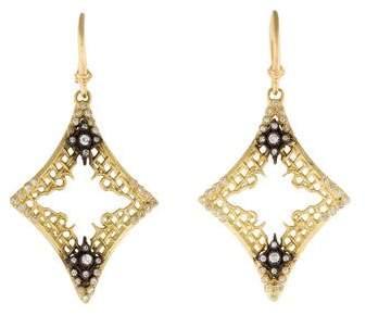 Armenta Old World Diamond Mesh Drop Earrings