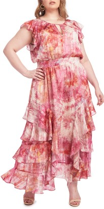 Rachel Roy Issa Tie-Dye Maxi Dress