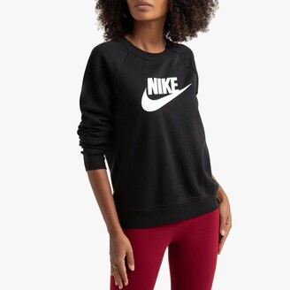 Nike Essential Cotton Mix Sweatshirt with Logo Print and Crew Neck