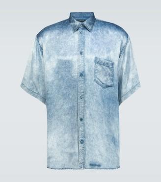 Balenciaga Denim effect short-sleeved shirt
