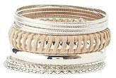 Charlotte Russe Plus Size Metal Bangle Bracelets - 10 Pack