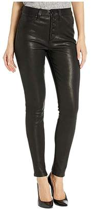 Joe's Jeans The Charlie Ankle Leather in Black (Black) Women's Casual Pants