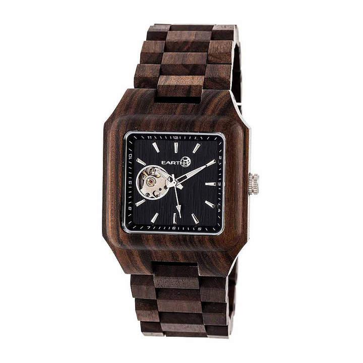 Earth Wood Black Rock Unisex Brown Bracelet Watch-Ethew4402