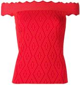 Jonathan Simkhai off-shoulders fitted blouse