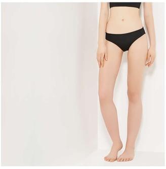 Joe Fresh Women's Reversible Bikini Bottom, Black (Size XL)