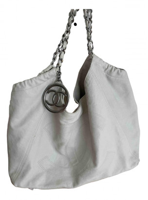 Chanel Coco Cabas White Leather Handbags