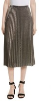 Tracy Reese Women's Metallic Pleated Skirt