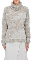 08sircus Women's Brushed Oversized Turtleneck Sweater-GREY