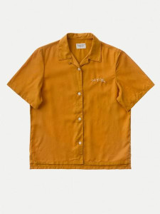 Nudie Jeans Bea Bowling Shirt Amber - S